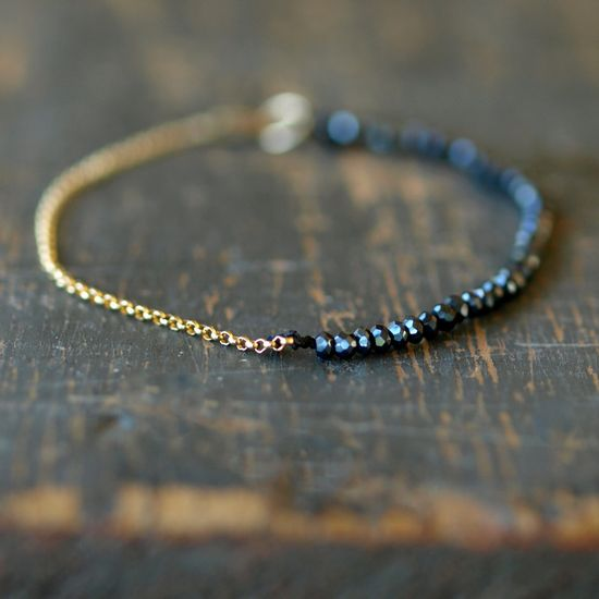 Black Magic Gold Bracelet by Clementine