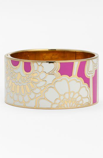 kate spade new york 'idiom' wide hinged bangle (Nordstrom Exclusive)