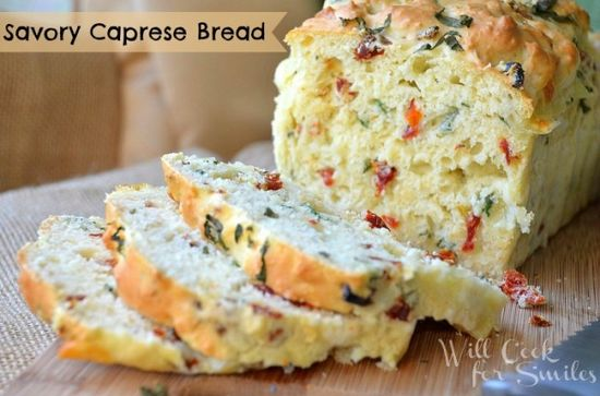 Savory Caprese Bread
