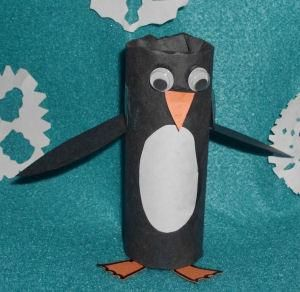 DIY Paper Crafts: DIY Toilet Paper Roll Penguin Craft Project for Kids DIY Toys DIY Crafts