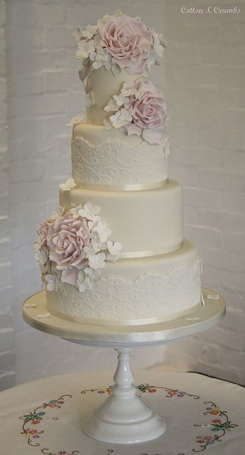 beautiful cake from cotton and crumbs