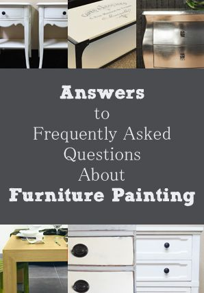 Frequently Asked Questions About Furniture Painting