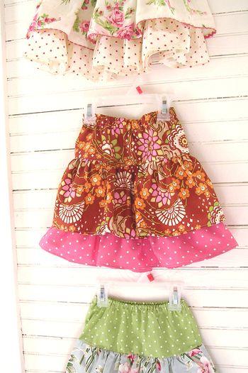 Sew ruffle skirt
