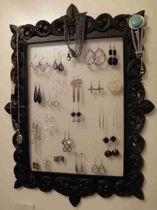 My DIY jewelry hanger