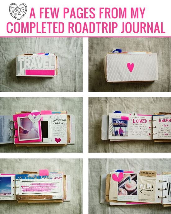 travel journal pages