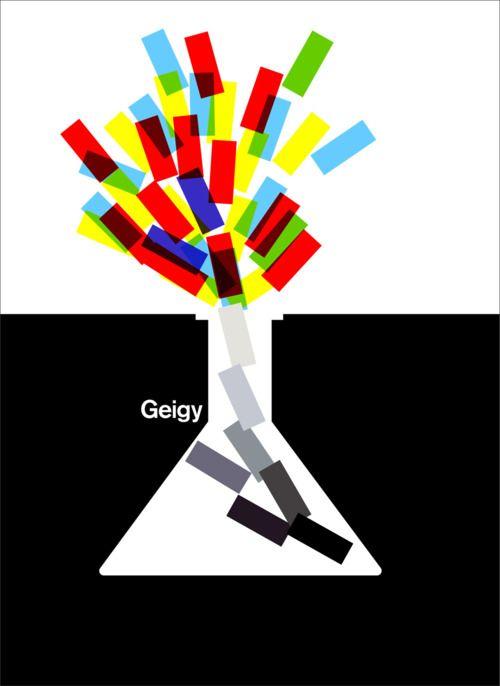 MID-CENTURY MODERN DESIGN, Geigy Ad, ca. 1965
