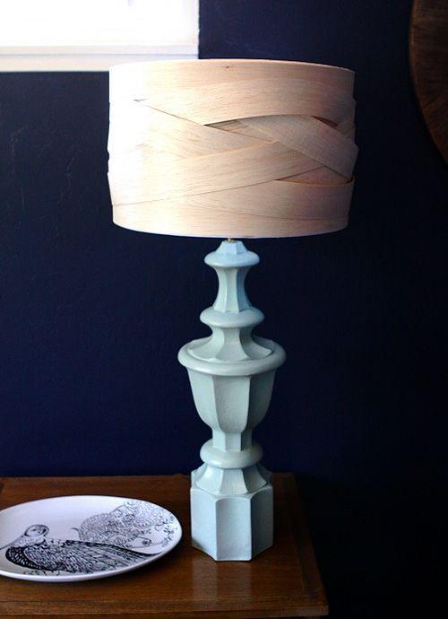 woven balsa wood lampshade