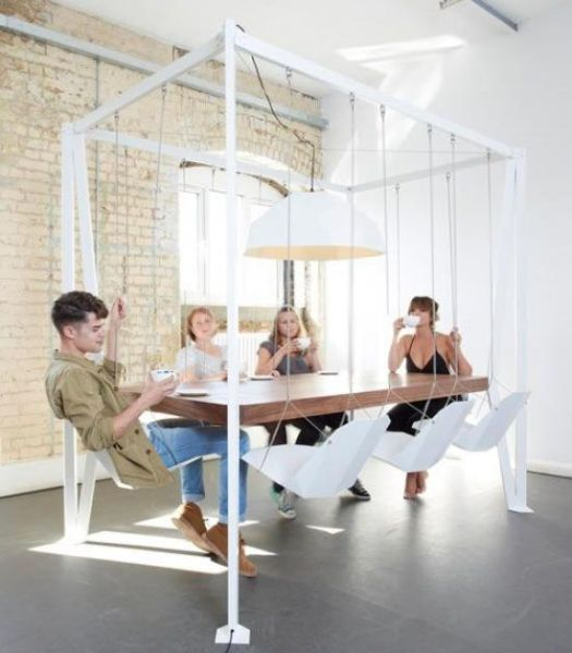 Swing meeting table