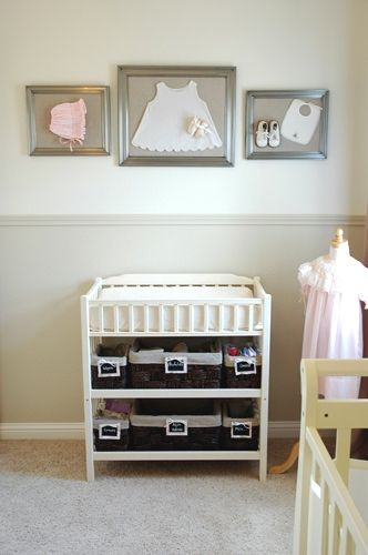 good way to display those sweet little baby things