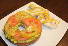 Mmm healthy tomato and avocado bagel! #food #health #fitness