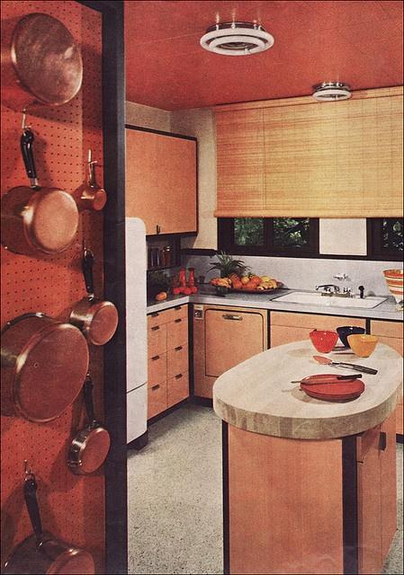 #1955 Modern #Kitchen - Orange