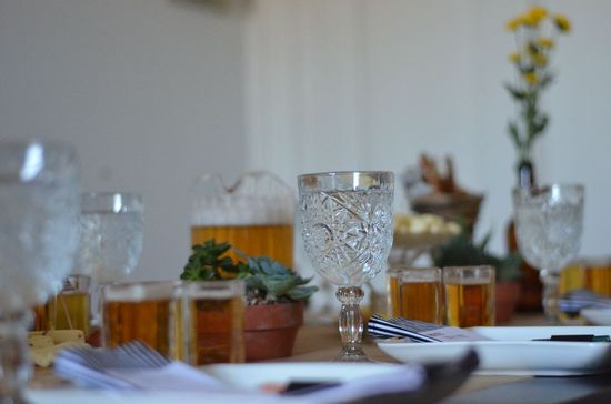 Beer Tasting Party Table Setting