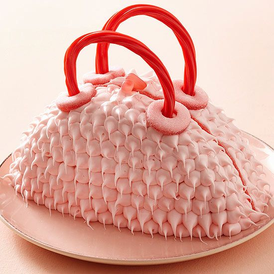 Make this adorable Furry Purse Cake for you little fashionista. More creative birthday cakes for kids: www.bhg.com/...