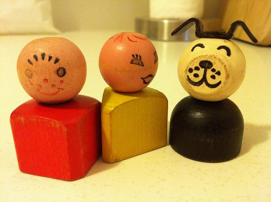 Fisher Price; wooden people::