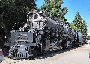 Union Pacific steam locomotive.