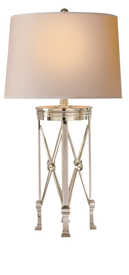 """Table Lamps, Designer 31"""" Tall Polished Nickel French Directoire Lamp, so elegant, inspire your friends and followers interested in luxury interior design, with new trending accents from Hollywood courtesy of InStyle Decor Beverly Hills, Luxury Designer Furniture, Lighting, Mirrors, Home Decor & Gifts, over 3,500 inspirations to choose from and share with our simple one click Pinterest Pin button enjoy & happy pinning"""