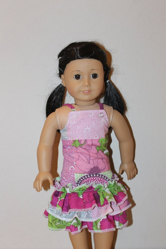 American Girl Doll Clothes  Spring/Easter Dress by IttyBittySmiles, $18.00 (LJC - Hayden dress pattern)
