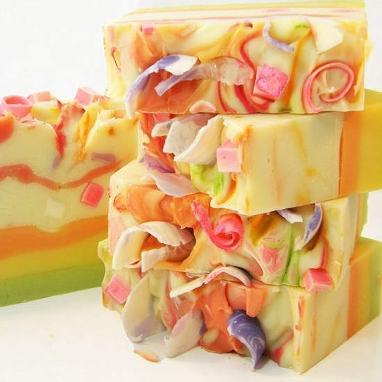 Tutti Fruiti Handmade Artisan Cold Process Soap by by svsoaps Etsy Store Having a Giveaway livelaughlovetosh...