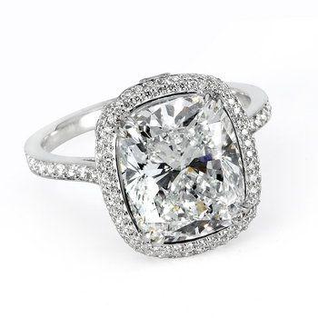 Cushion-Cut #Diamond E-Ring
