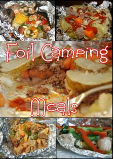 Classic Hobo tin-foil dinners. From basic hobo hamburger to sweet pepper chicken, these foil-pack dinners are easy to make camping meal ideas.