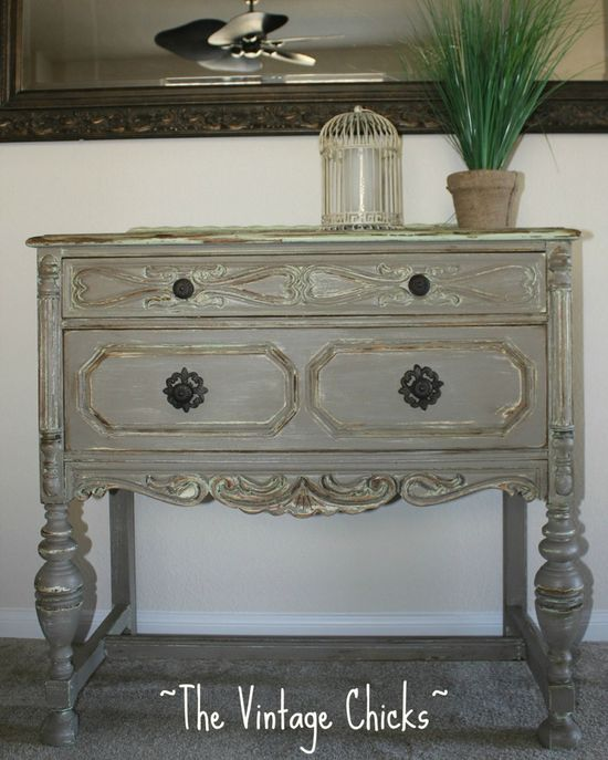 gray antique furniture
