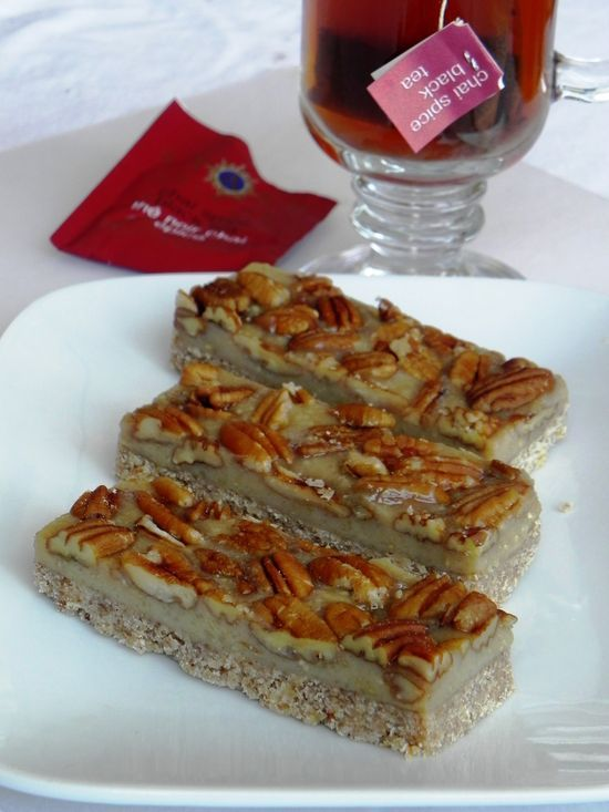 Pecan Chai Spice Bars #raw #vegan #health care #healthy eating #better health solutions