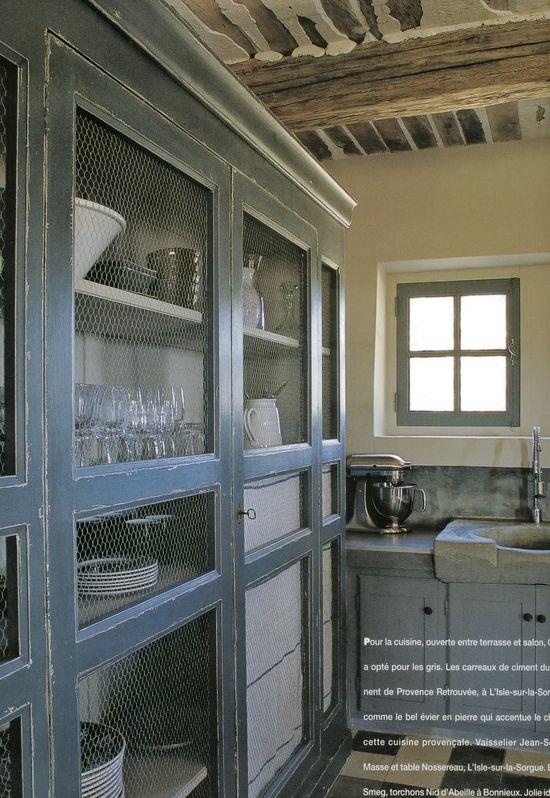 Kitchen cabinets via Maisons Cote'Sud