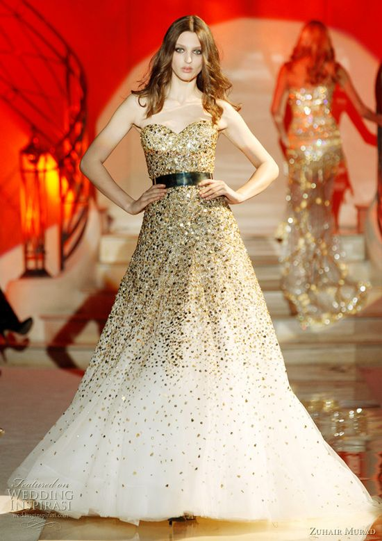 Zuhair Murad couture designer wedding dress