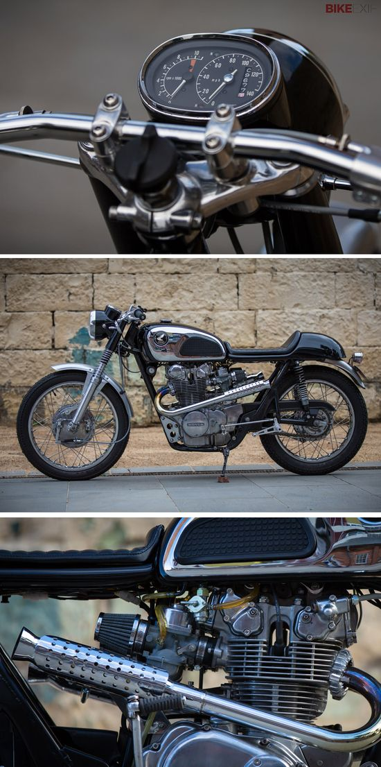 "The 1960s Honda CB450 K0 has a very secure place in motorcycling history books. Nicknamed the 'Black Bomber' on account of the Ford Model T-style paint choice, it still looks good today.  Australian Cliff Overton fell under the spell of the CB450 a couple of years ago. Out of the blue, he got the chance to own one—and jumped at it. ""I wasn't looking for a project, but this bike found me,"" he says. And here's the result—the delightful 'Runcible Racer.'"