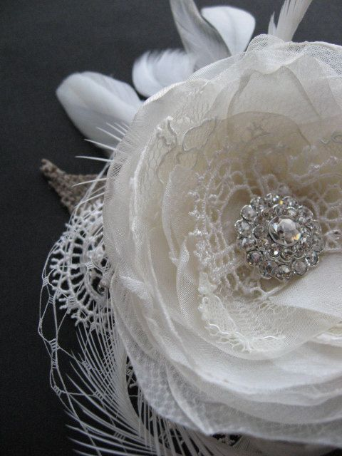 lace, feathers, burlap and tulle
