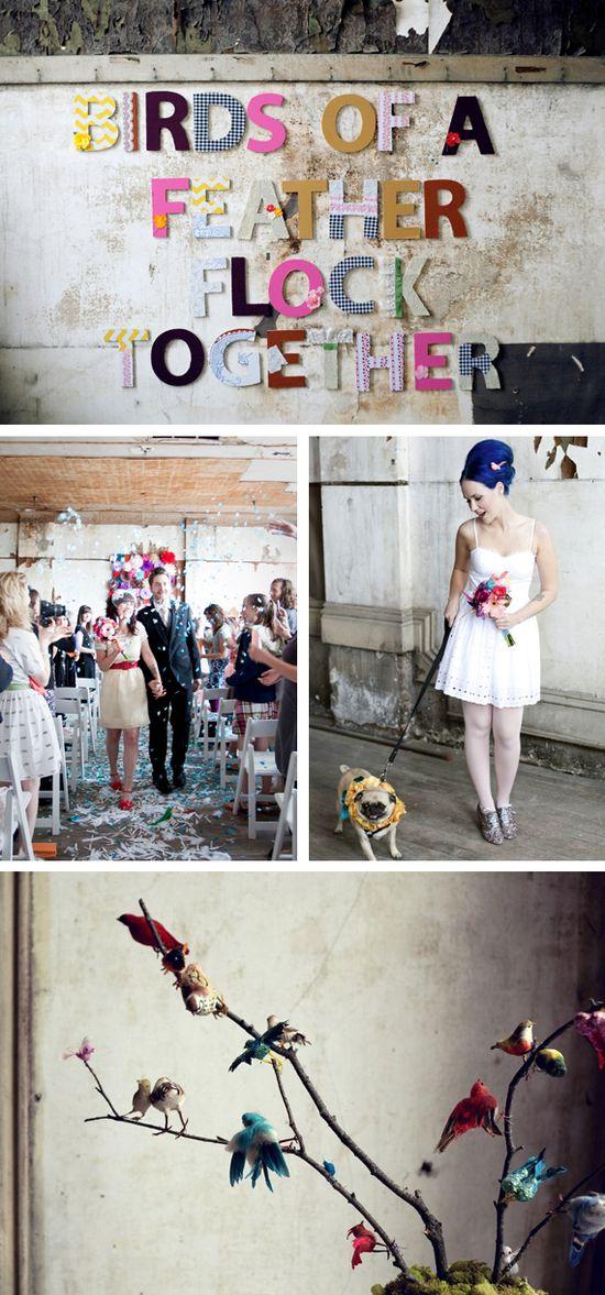whimsical, creative wedding.