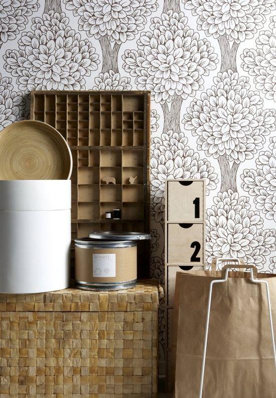 Lovely patterned wallpaper