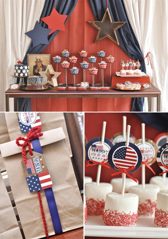 Vintage Americana 4th of July Party & BBQ Picnic // Hostess with the ...