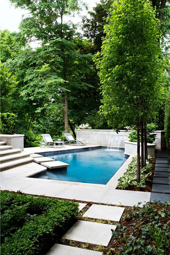 Pool / garden path