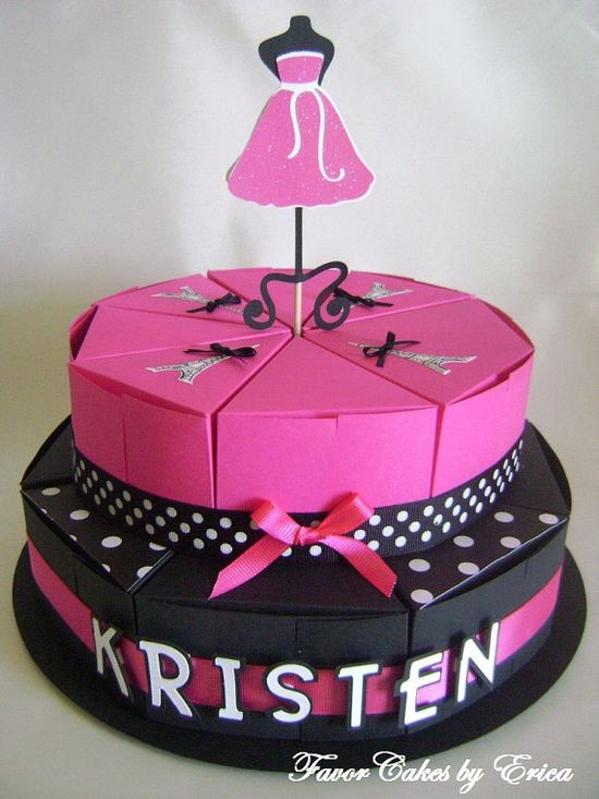 barbie favor box cake
