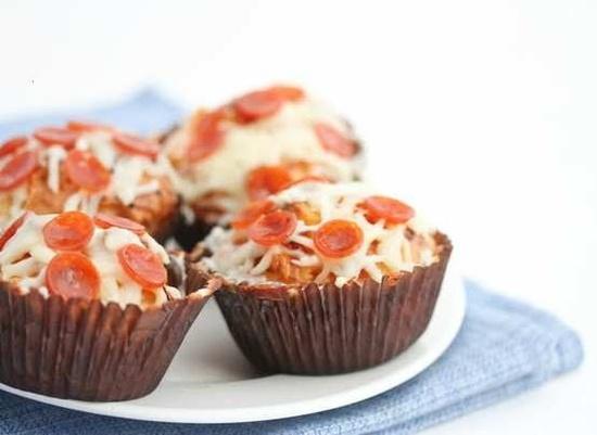 pizza (savory) cupcakes