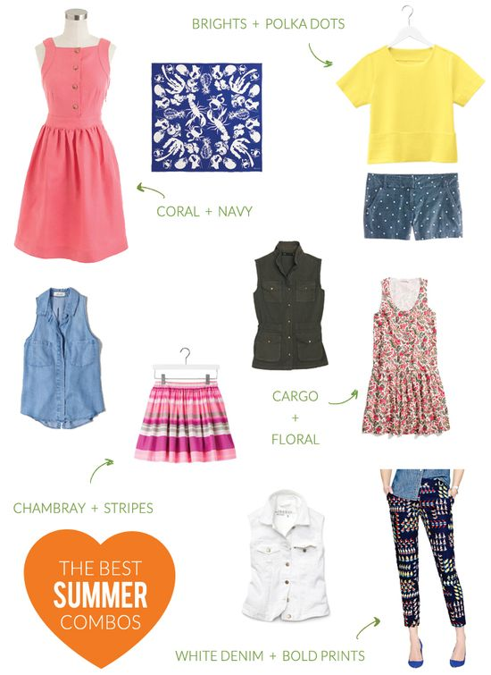 Fun summer clothing combos