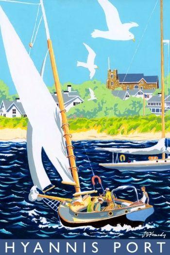 Hyannis Port travel poster