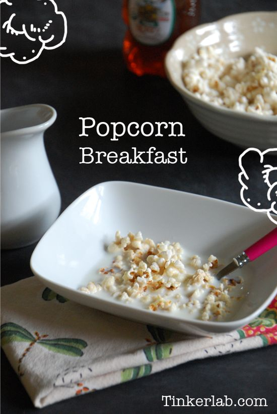 How to make popcorn cereal breakfast, a Colonial American treat. It may sound weird, but it tastes really good and teaches kids a little bit about American history. Yum.