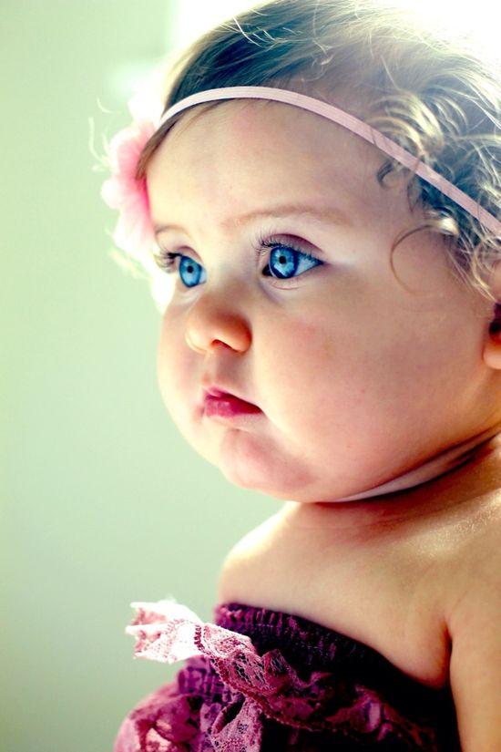 Blue eyed baby. (#Baby photography)