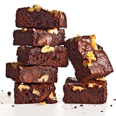 Classic Fudge-Walnut Brownies, also known as Cooking Light's Best Chocolate Recipe ever!