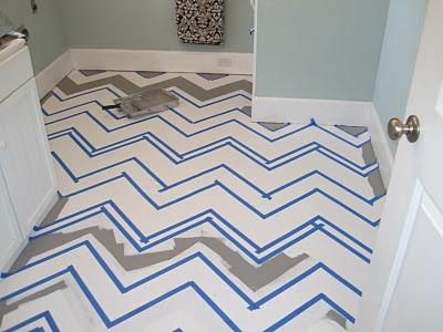 chevron pattern floor - how to