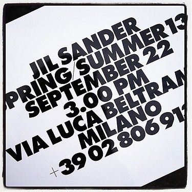 Jil Sander invite @CO DE + / F_ORM