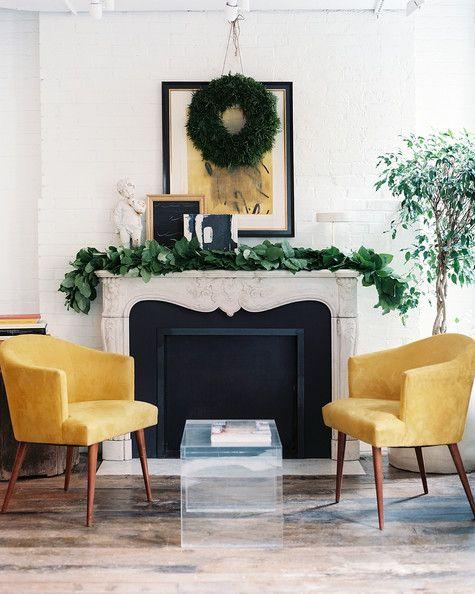 The fireside lounge of Haven's Kitchen.  Lonny, December 2012