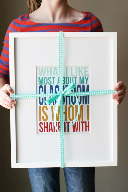 CUTE Teacher Appreciation Gift idea! what i like most about my classroom (free printable)