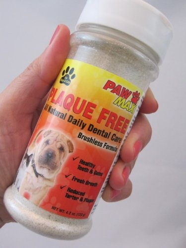 Trying to keep your dog's teeth clean?DON'T SPRAY! Just Sprinkle! Plaque Free is a tasty powder you add to your pets food.  Helps Freshen Breath and Fight Plaque & Tartar, Gingivitis. Avoid Tooth Decay.   Help Keep Your Pet Healthy.