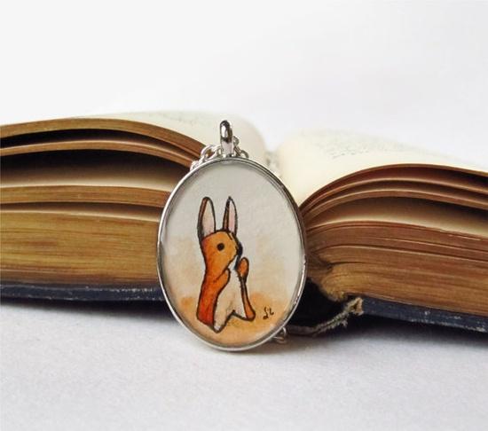 Velveteen Rabbit Original Wearable Art Necklace by TuckooandMooCow, $34.00