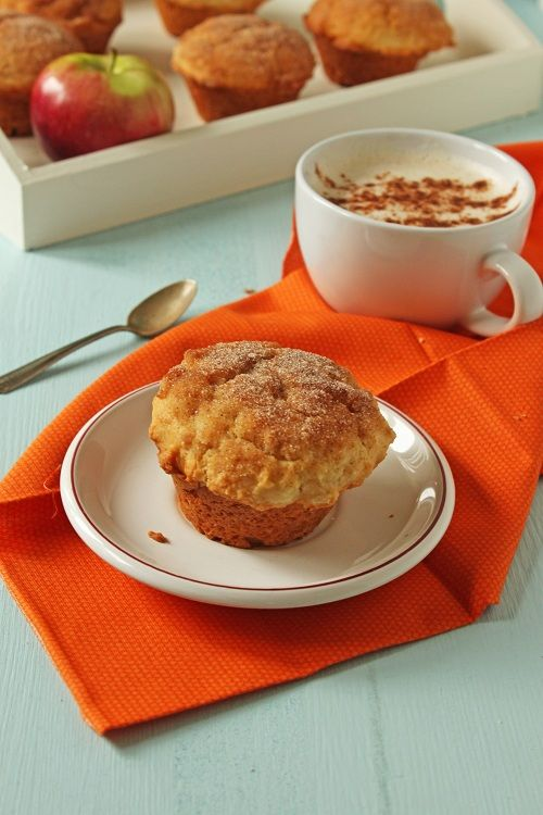 Apple Cinnamon Donut Muffins would be great for a fall bake sale!