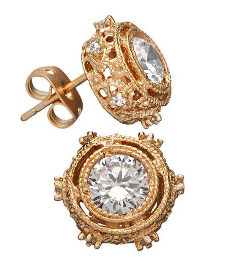 ornate stud earrings