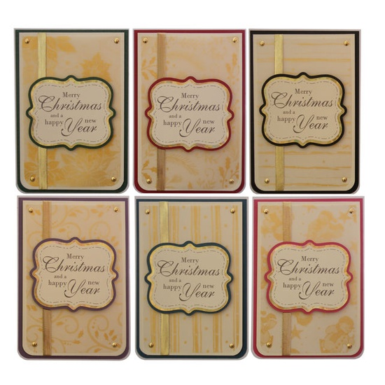 Handmade Pack of 6 Christmas Cards £4.00